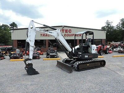 2013 Bobcat E50 Excavator - 2 Speed Travel - Front Blade - Good Condition