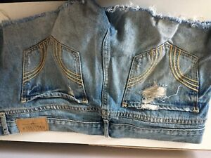 Women's Hollister, and Silver jean shorts