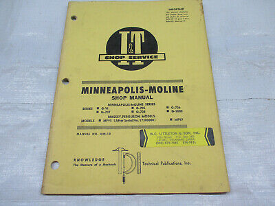 It Shop Manual For Minneapolis Moline Series G-v1 And Massey Ferguson M95