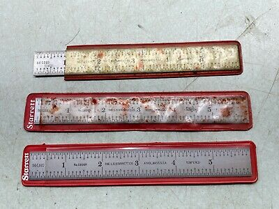Starrett Tool Steel Rulers Spring Tempered 6 6r Grad C606r-6 Lot Of 3