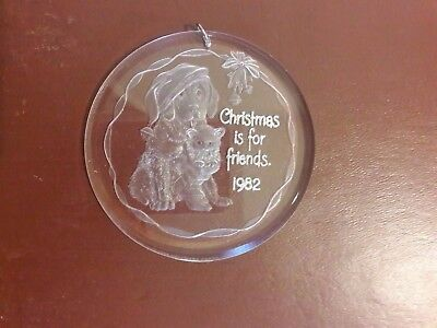 HALLMARK Christmas Ornament 1982 friendship in original box