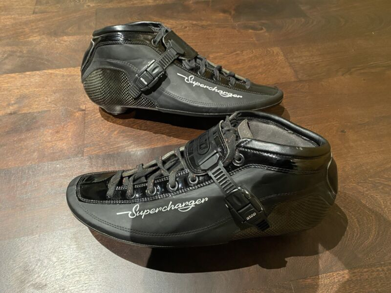 Top of the Line Luigino LGO Supercharger Skate Boots Size 43 $600 Retail
