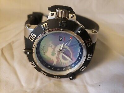 Invicta Men's 0876 Subaqua Noma III MOP Dial GMT SWISS MADE Rubber Watch