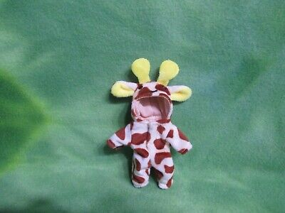 MINIATURE PLUSH GIRAFFE COSTUME FOR DOLLS SIZED 4.5