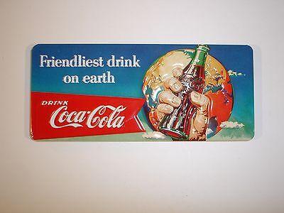 "Coca Cola Embossed ""Friendliest Drink on Earth"" Magnet by Ande Rooney"