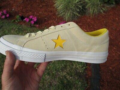Converse ONE STAR VANILLA SOLAR YELLOW  SUEDE 159814C SIZE 11.5 NEW NO BOX