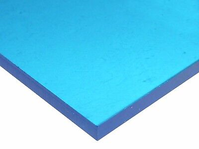 18 3mm Blue Neon Acrylic Plexiglass Sheet 12x12 New Azm