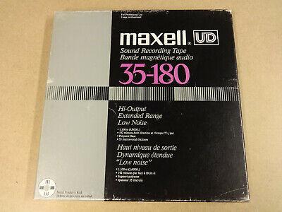 "10"" (26,50 CM) METAL REEL TAPE MAXELL UD 35-180 IN ORIGINAL BOX"