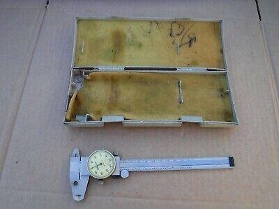 Mitutoyo Shock Proof Dial Gauge Caliper No. 505-637-50 6 Original Case