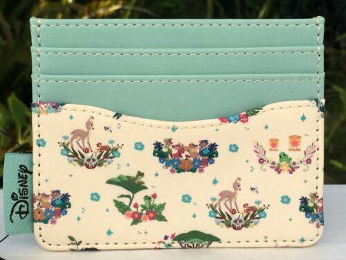 Loungefly Disney Princess Companions Floral Cardholder 3 Slots & Top Slot NWT