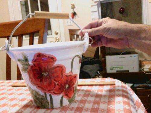 Maxcera Cream Poppies Planter