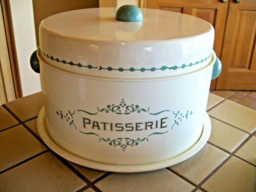 World Market  Patisserie 3-piece Metal Cake & Pie Carrier Keeper Retro Cream