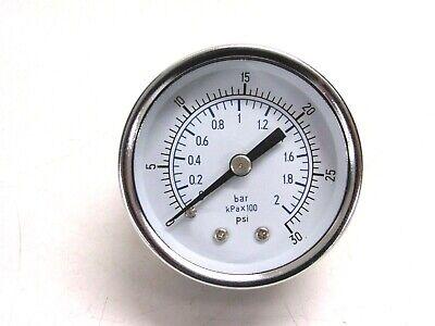 2 Pressure Gauge 0-30 Psi 14 Brass Bm