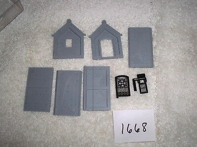 HO Scale Model Train Accessories - Cemetery Crypt Building Unassembled - Cemetery Kit