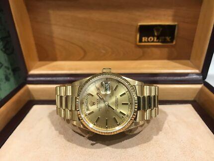 Rolex Daydate 89' president champagne stick dial