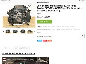 Subaru Ej255 Engine | Kijiji in Ontario  - Buy, Sell & Save