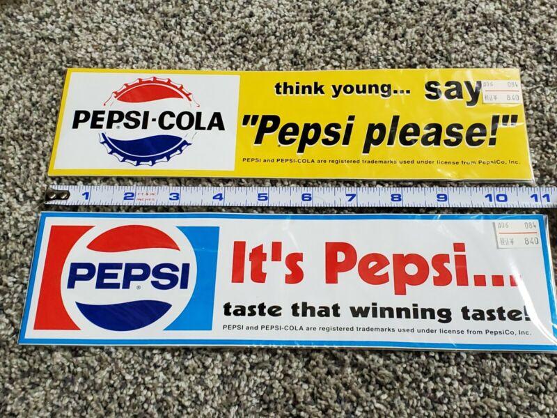 Pepsi Bumper Stickers Lot Of 2