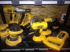 Selection of dewalt tools