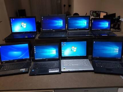 8 working laptops + 1 PC