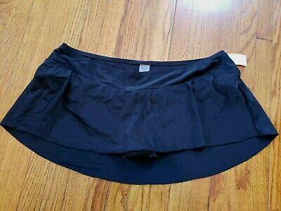 Motherhood Maternity Swim Skirt Black 3X NWT Bikini Bottoms Swimsuit Swimwear ()