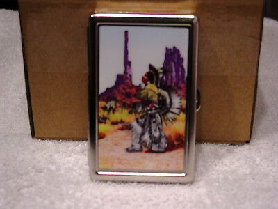 INDIAN BRAVE CIGARETTE CASE CREDIT CARD ID AND MONEY HOLDER WALLET Credit Card Cigarette Case Wallet