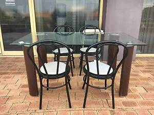 DELIVERY 5 pcs LUXURY MODERN GLASS dining table & chairs Belmont Belmont Area Preview