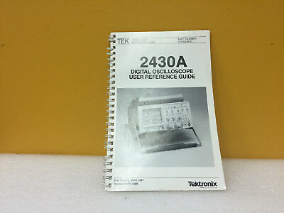 Tektronix 070-6339-00 2430a Digital Oscilloscope User Reference Guide