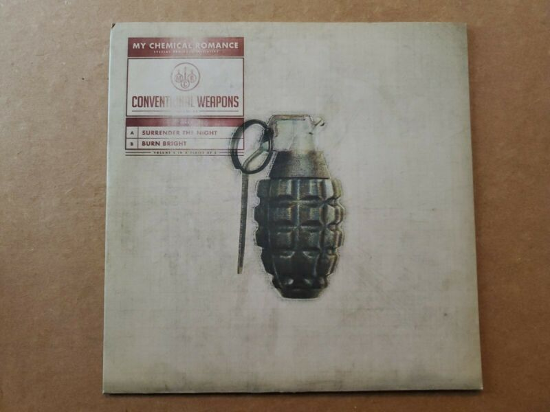 My Chemical Romance Conventional Weapons Vinyl Volume 5 Burn Bright white 45 rpm