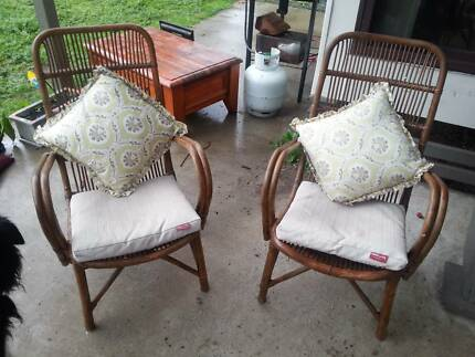 Antique Rattan Outdoor Chairs With Cushions Carey Park Bunbury Area Preview