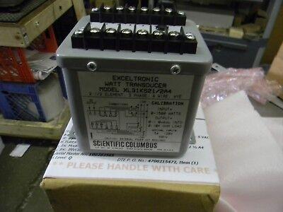 Scientific Columbus Xl31k5212a4 Exceltronic Watt Transducer Free Shipping