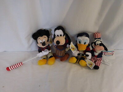 a Disney 4th of July Mickey Mouse Mini Bean Bag Fife /& Drum Corp 1999 Flag