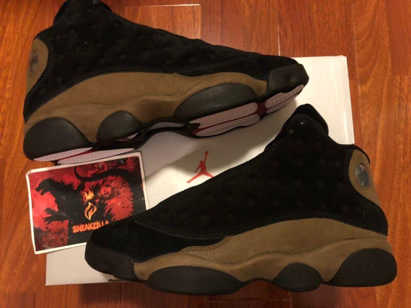 official photos 97d79 72897 Nike Air Jordan Retro XIII 13 OLIVE 2018 Black True Red Light 414571-006 Sz