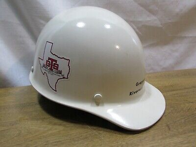 Vintage Skullgard Fiberglass Hard Hat Riverway Company Georgetown Texas Steel