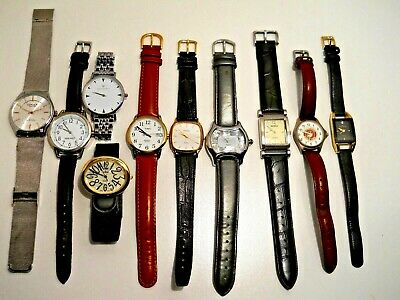 10 working Watches Benrus, Timex, Omax, Wristology, Activa, Collezio, USMC, AK