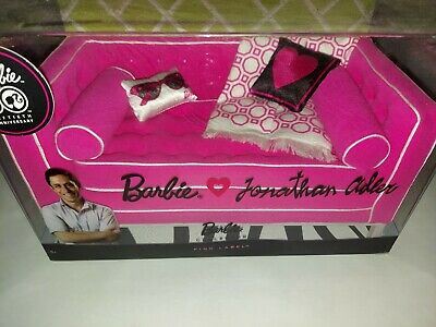 BARBIE JONATHAN ADLER Happy Chic GIftset COUCH Sofa MATTEL R4158 NRFB