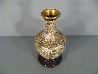 Vase Antique Bronze Cloisonne Far East Japan (?) China (?) Pattern Swallow