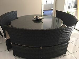 Orbit Round outdoor wicker table setting Wellington Point Redland Area Preview
