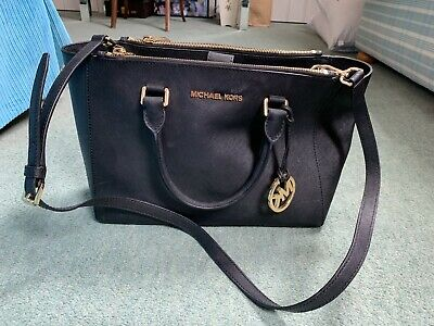 Michael Kors used Black Handbag leather