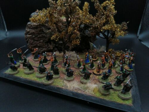 Lord of the rings games workshop Warriors of the Last Alliance Elfs painted