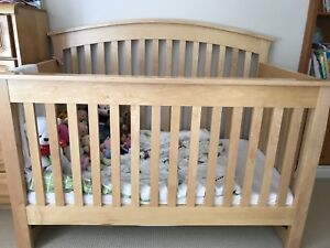 Canadian made solid pine convertible crib