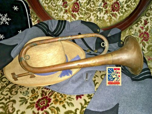 US Civil war Antique brass Bugle