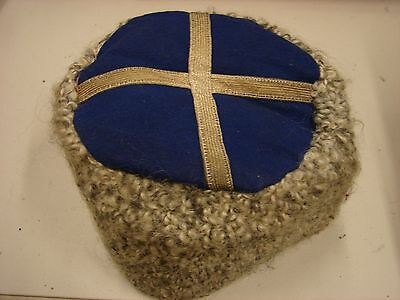 Original WW1 Russian Army Officer-NCO Fur Cossack Hat-Blue Top
