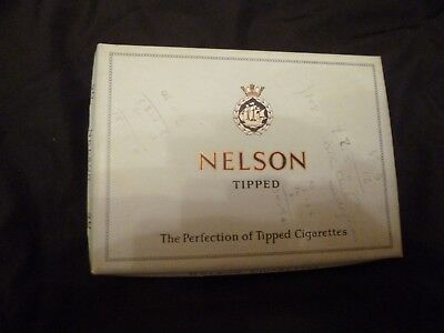 VINTAGE NELSON Tipped Pale Blue Cigarette Box (Empty) for 50 Cigarettes