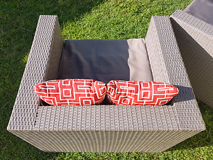 Wicker Rattan Modular Outdoor Setting 6 Seater Coomera Gold Coast North Preview