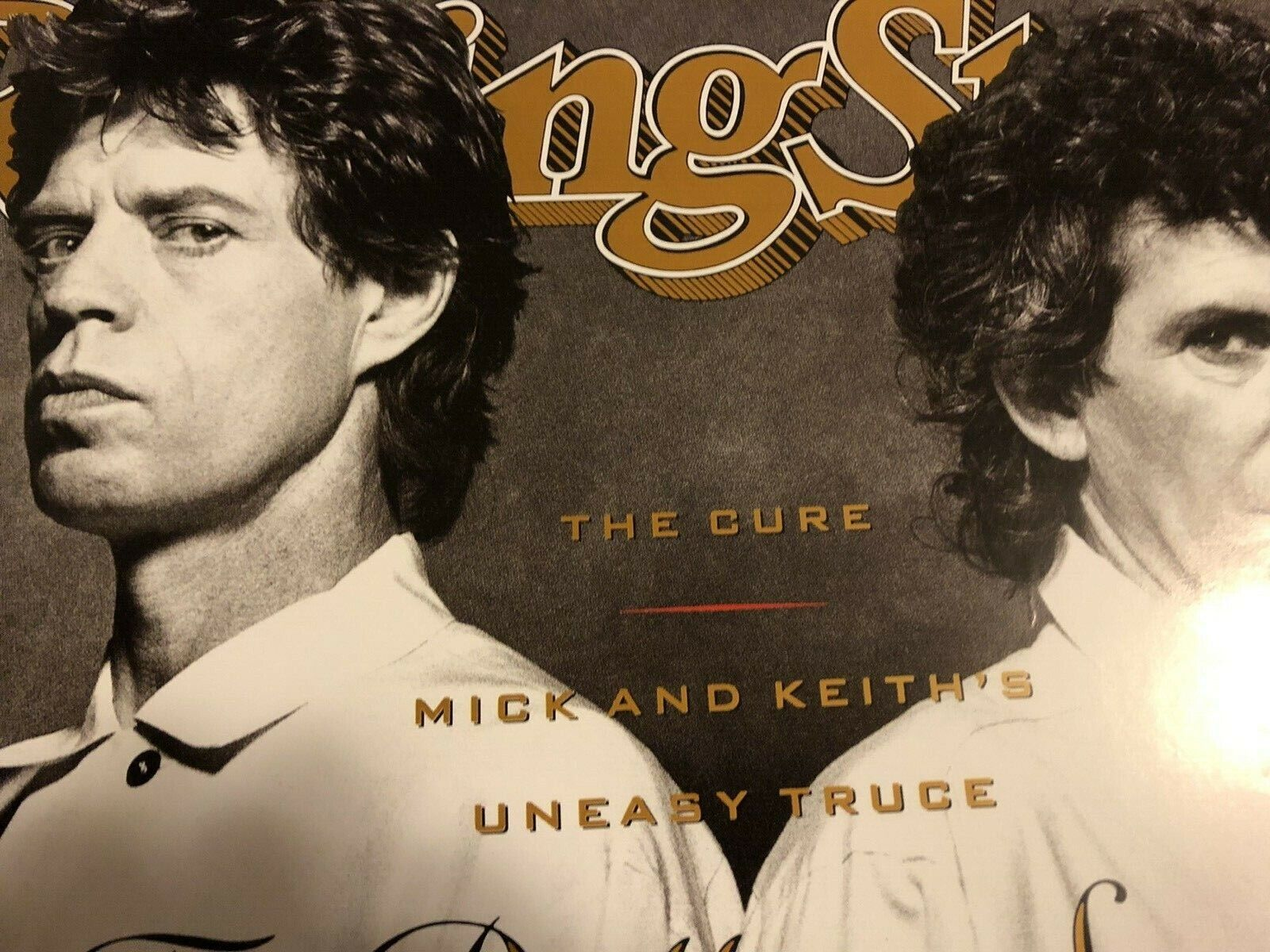 ROLLING STONES Jagger Richards Rolling Stone Mag. 1989 Cover Poster FREE SHIP  - $39.99