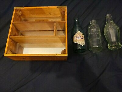 New Coca Cola 3 bottle display mirrored wooden case collectable vintage coke