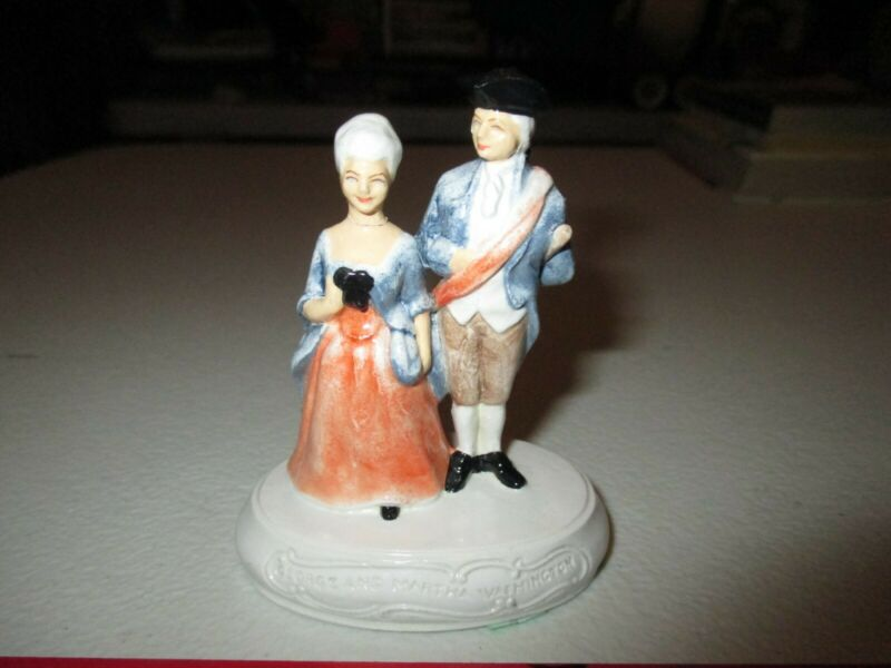 Original Vintage George & Martha Washington Figures