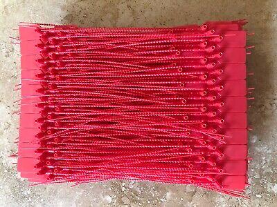 100-fire Extinguisher Tamper Flag Seals Red