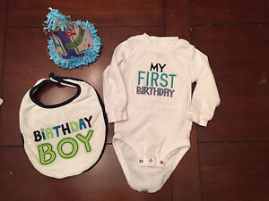 Birthday shirt and decorations
