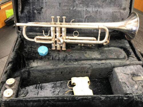 E Benge 3 Resno-Tempered ML Bore Silver Trumpet w/ 2 Mouthpieces + Case NICE